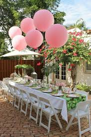 Baby Shower Table Setup by Beautiful Tablescape For A Pink And Green Engagement Party Bridal