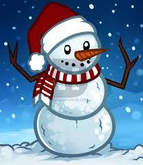how to draw a christmas snowman step by step by darkonator