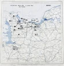 Map Note Map Map Noting Situation At Normandy France At 2400 Hours On 6