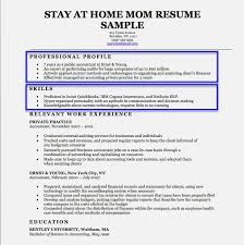 stay at home mom cover letter resume cover letter email template
