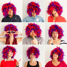 wigs for halloween totally wigging out how to turn a feather boa into a wig