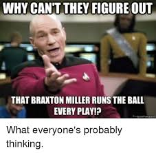 Braxton Miller Meme - why cant they figure out that braxton miller runs the ball every