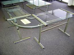 Glass Corner Desk Small Glass Corner Desk New Furniture