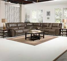 Sealy Leather Sofa Noble Power Sectional Sofa Set Almond Catnapper Living Room