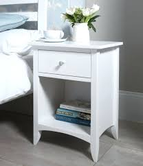 bedroom modern white bedside cube table with storage round white