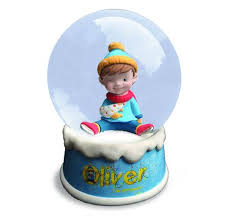 oliver the ornament musical snow globe oliver the ornament