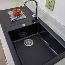 composite sinks granite composite sinks 60 40 chic black kitchen