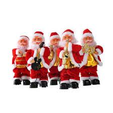 decorations electric santa claus singing dlowing