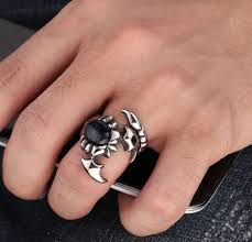 cool finger rings images Cool stainless steel crystal scorpion ring ancient explorers jpg