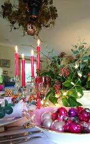 how to revive your christmas table decorations with pink the