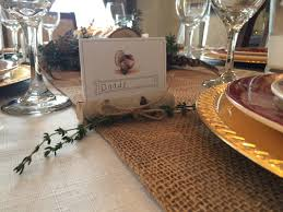 thanksgiving dinner place cards suburban chic