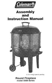 coleman patio heater with light coleman outdoor fireplace 5068 series user guide manualsonline com