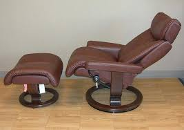 stressless recliner chair eagle leather recliner chair and ottoman