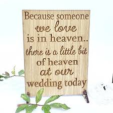 wedding memorial sign because someone wedding sign memorial sign wedding plaque