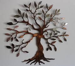 charming tree metal wall art decor sculpture design popular home