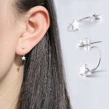 tiny earrings akolion 925 sterling silver simple ear stud earring small