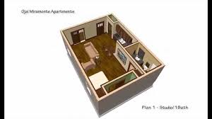 500 Sq Ft Studio Floor Plans Plana Studio 1 Bath 500 Sqft Youtube