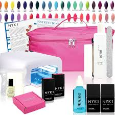 nyk1 uv essentials 2 colour nailac gel nail polish kit choose