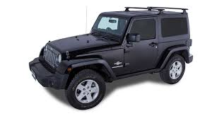 jeep black 2016 rhino rack vortex rlt600 black 2 bar backbone roof rack 2 door