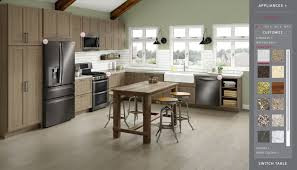 appliance black kitchen cabinets with stainless steel appliances