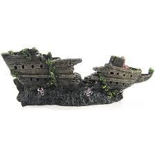 penn plax split shipwreck aquarium ornament aquarium ships