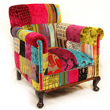 Multi Coloured Upholstery Fabric Patchwork Furniture Just Fabrics