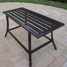 Wrought Iron Patio Side Table Oakland Living Noble Wrought Iron Patio Coffee Table Hayneedle