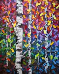 painting gallery best birch tree abstract landscape painting