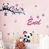 stickers panda chambre bébé stickers panda chambre bb stickers muraux pour bien