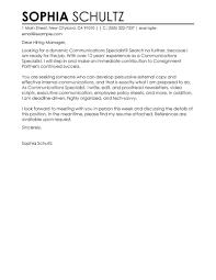 example of cover letter for pr job cover letter templates