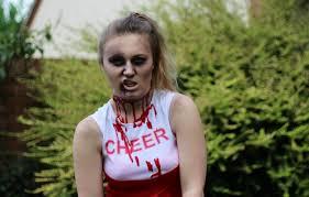 Zombie Cheerleader Zombie Cheerleader Easy Halloween Makeup Look Bekylou