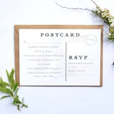 Post Card Invitations Location Map Wedding Invitation Postcard On White By Paper And Inc