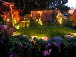 Landscaping Solar Lights Unique Backyard Design With Led Lawn Path Yard Solar Lights