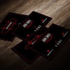 professional business card template red and black by mischoko on
