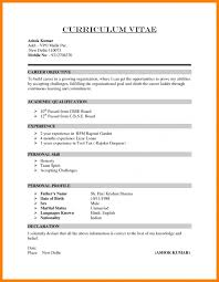 how to write a cv resume template example