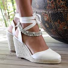 espadrille mariage espadrille wedge ivory mariages chaussure et