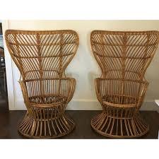 bamboo chair gio ponti style rattan bamboo chairs chairish