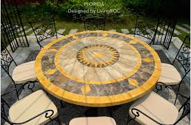 Mosaic Patio Table And Chairs 49 Outdoor Patio Garden Table Mosaic Marble Florida
