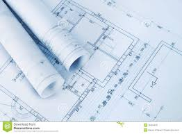 construction plan blueprints royalty free stock image image