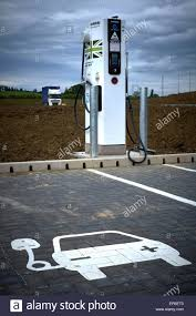 Recharge Station Electric Car Recharge Station Stock Photo Royalty Free Image