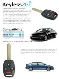 Price Of Brand New Honda Civic Amazon Com Keyless2go Keyless Entry Car Key Replacement For