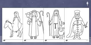 nativity colouring pages nativity colour pages christmas