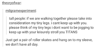 Funny Running Titan Tumblr - that day short people received a grim reminder tumblr