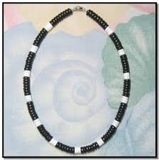 black shell necklace images Native treasure tropical puka shell jewelry jpg