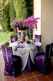 eggplant colored table linens gray silver wildflower linen