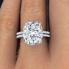 engagement rings cushion cut 3 10ctw rectangular cushion cut pave diamond engagement