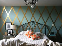 Bedroom Wall Ideas Diy Gold Duck Tape Diamond Wall Love This Since I Cant Paint The
