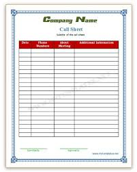 call sheet example download a free call sheet template to get