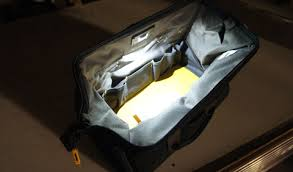 bag with light inside clc not your typical contractor bags tech gear led lighting