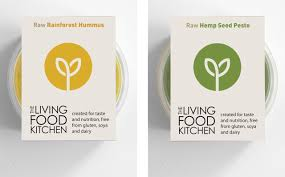 studio h our work the living food kitchen brand u0026 packaging